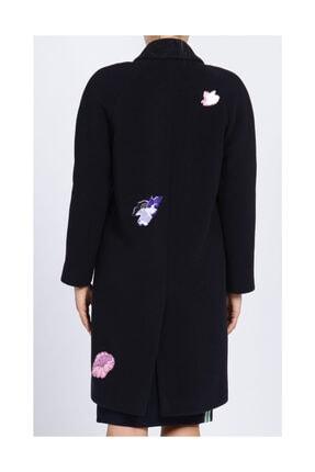 Christopher Kane Çiçek Detaylı Lacivert Palto 4