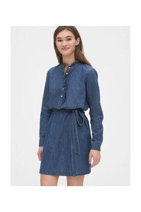 GAP Fırfır Detaylı Gömlek Elbise 0