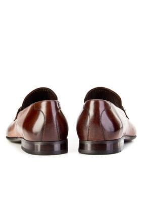 Cabani Kemer Detaylı Klasik Erkek Ayakkabı Taba Sanetta Deri 3