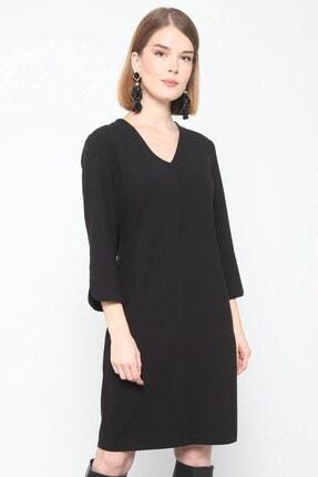 Journey Elbise- V Yaka Turvakar Kol, Kol Yırtmaç Detaylı 1