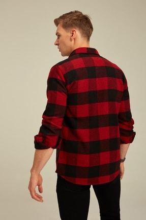 Tarz Cool Erkek Kırmızı Ekoseli Oduncu Gömlek odg001r01 3