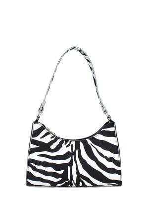 Housebags Kadın Zebra Desenli Baguette Çanta 195 0