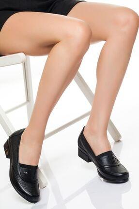 derithy Kadın Siyah Hakiki Deri Casual Ayakkabı 0