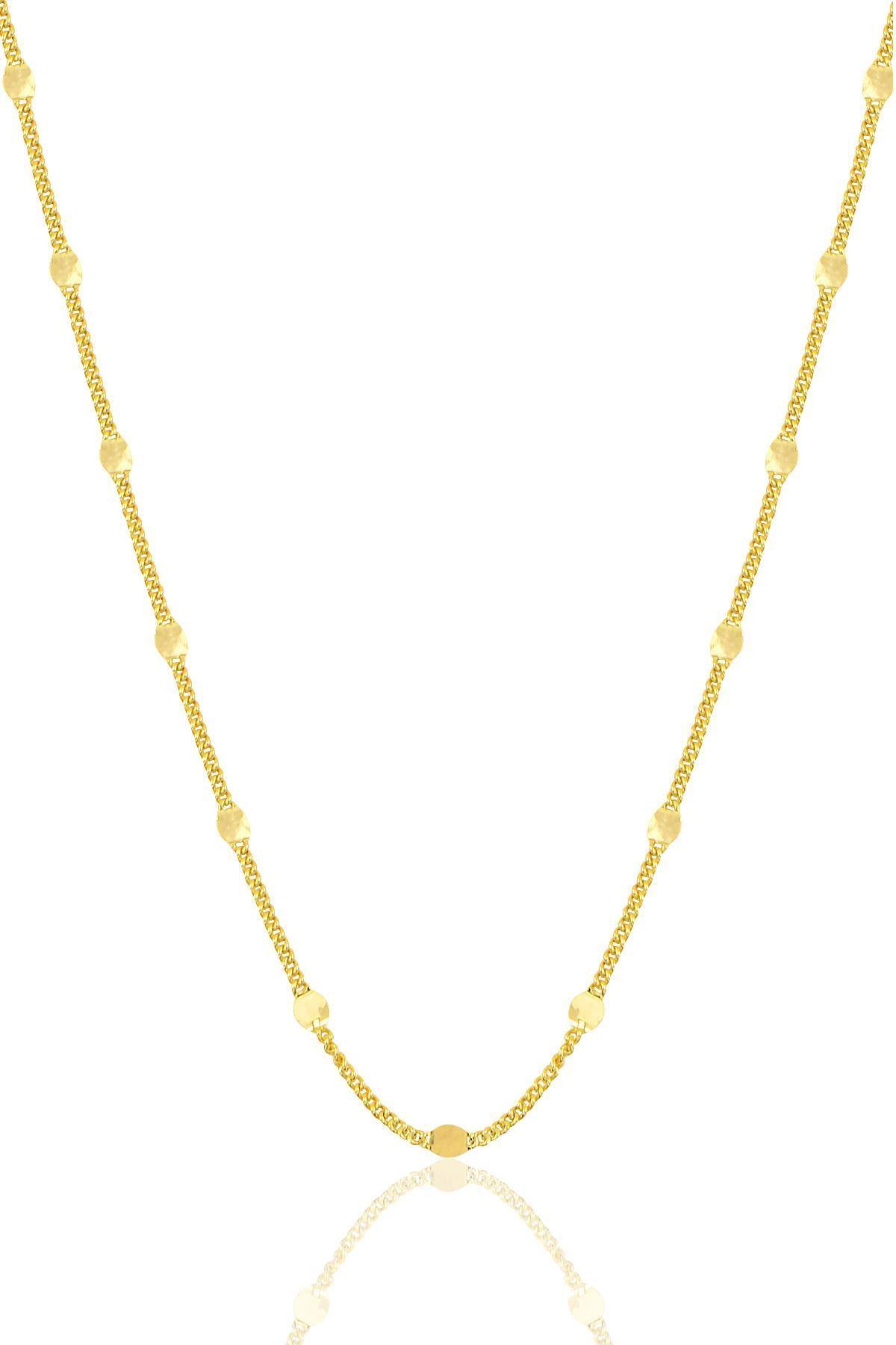 Söğütlü Silver Gümüş Altın Yaldızlı Pullu Gurmet  Zincir. 0