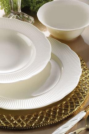 Kütahya Porselen Bone İlay 24 Parça Yemek Seti 0