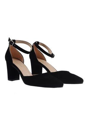 Fiore Siyah Süet Bayan Topuklu Ayakkabı 1