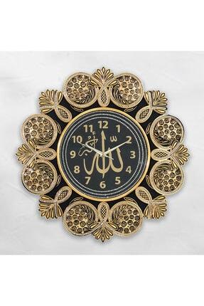 Çiçekli Esma Altın Pano Saat yt saat 0345