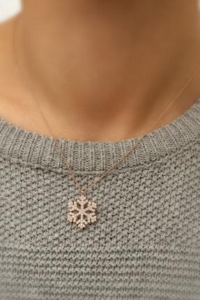 Papatya Silver Kartanesi Kolye - Rose Gold Kaplama 925 Ayar Gümüş - Uvps100177 1