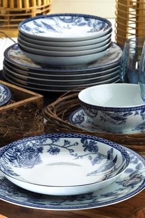 Kütahya Porselen Blue Blanc 6 Kişilik 24 Parça Yemek Takımı 1