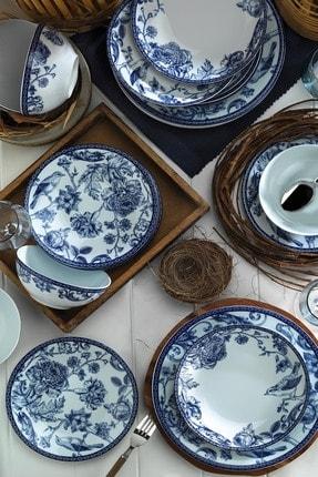 Kütahya Porselen Blue Blanc 6 Kişilik 24 Parça Yemek Takımı 2