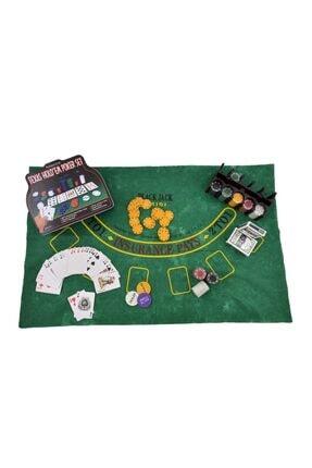 Gezgin tekstil ve aksesuar 200 Chip Ve 2 Adet Iskambil Oyun Setine Sahip Poker Oyunu 1