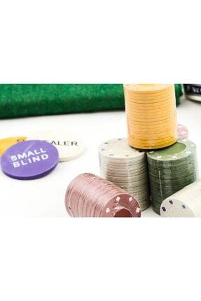 Gezgin tekstil ve aksesuar 200 Chip Ve 2 Adet Iskambil Oyun Setine Sahip Poker Oyunu 2