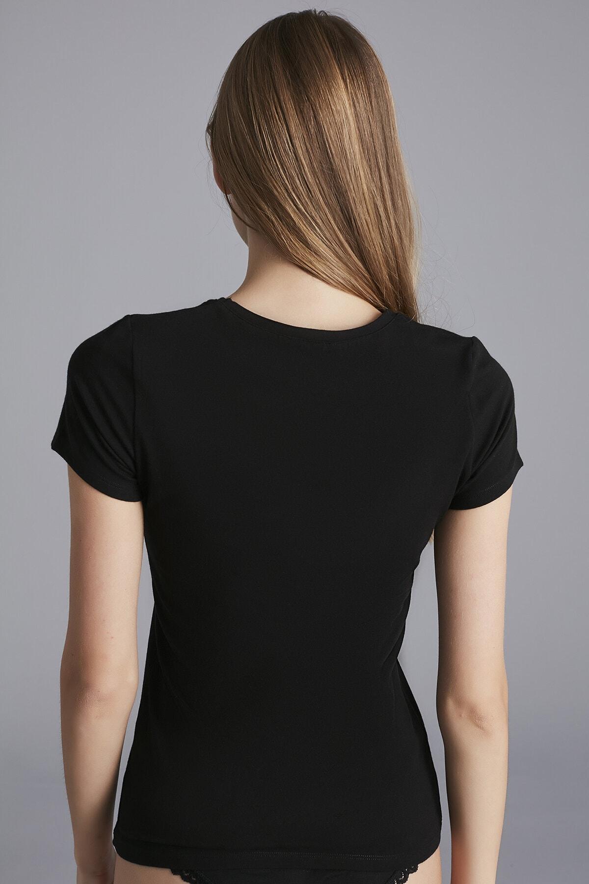 Penti Siyah Hot Tech Basic Thermal Tshirt 2