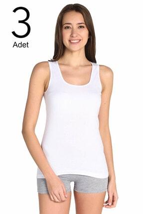 Tutku Kadın Beyaz 3'lü Paket Atlet Elf568t0136ccm3 1