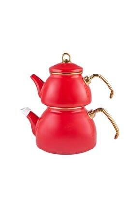 Karaca Retro Emaye Kırmızı Çaydanlık 1