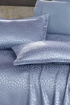 Elart Garden Mavi Çift Kişilik Yatak Örtüsü 1