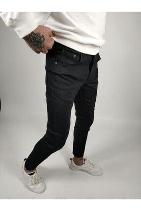 ukdwear Erkek Siyah Italyan Kesim Kot Pantolon 1