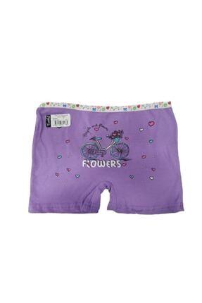 Tutku Kız Elastan Baskılı 6'lı Paket Boxer( 0181) 2