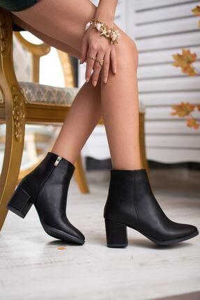 DİVOLYA Kadın Siyah Topuklu Bot 2