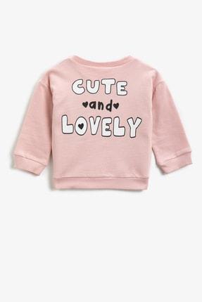 Koton Pembe Kız Bebek Sweatshirt 1