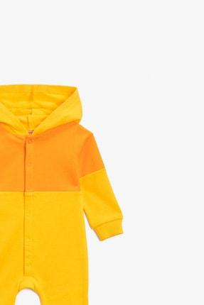 Koton Koton Erkek Bebek Pamuklu Kapüşonlu Çıtçıtlı Sarı Tulum 1knb10441tk 2