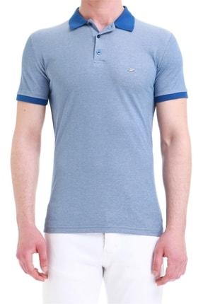 Efor Erkek Koyu Mavi Slim Fit Spor T-shirt Ts 728 0