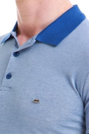 Efor Erkek Koyu Mavi Slim Fit Spor T-shirt Ts 728 3
