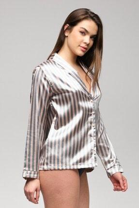 C&City Paulita Kadın Gömlek Gri/pembe 3