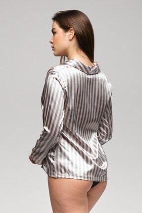 C&City Paulita Kadın Gömlek Gri/pembe 4