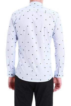 Efor Erkek Mavi Slim Fit Klasik Gömlek Gk 550 2