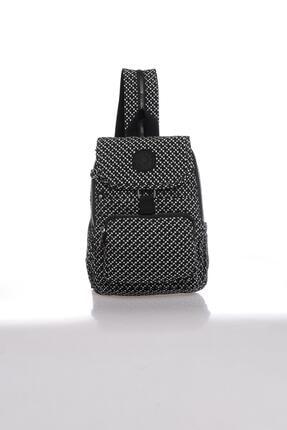 Smart Bags Kadın Siyah Beyaz Sırt Çantası Smbk1138-0127 0