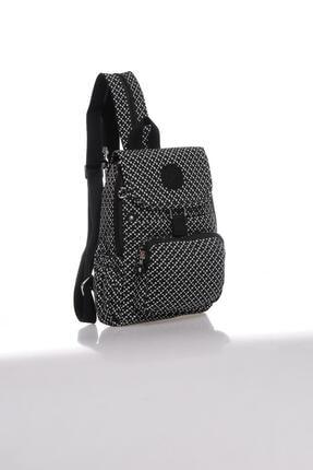 Smart Bags Kadın Siyah Beyaz Sırt Çantası Smbk1138-0127 1
