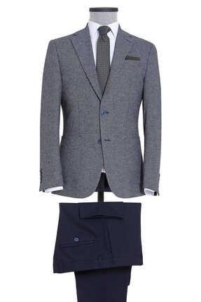Erkek Lacivert Desenli Mix Takım Elbise resmi