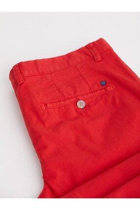 Dufy Kırmızı Düz Pamuklu Likra Erkek Pantolon - Slım Fıt 2
