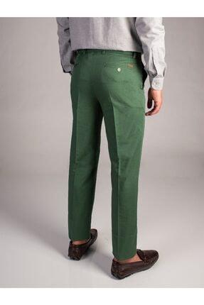 Dufy Yeşil Düz Sık Dokuma Erkek Pantolon - Regular Fıt 1