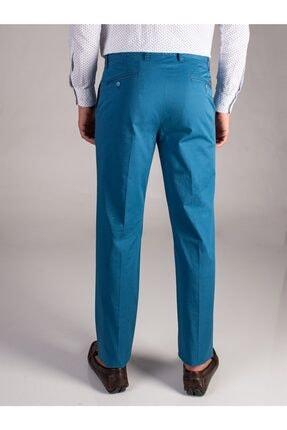 Dufy Petrol Düz Sık Dokuma Erkek Pantolon - Regular Fıt 2