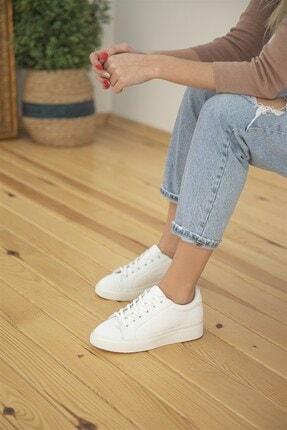 Straswans Kadın Sweet Deri Spor Ayakkabı Beyaz 1