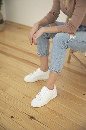 Straswans Kadın Sweet Deri Spor Ayakkabı Beyaz 3