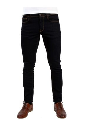 Dufy Koyu Lacivert Erkek Kot Pantolon - Slım Fıt Jeans 0