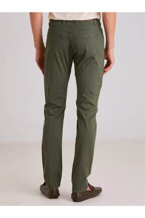 Dufy A.haki Pamuk Likra Karışımlı Erkek Pantolon - Modern Fit 3
