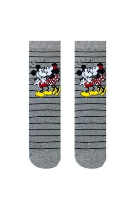 Socks Stations Unisex Renkli 5'li Mickey ve Minnie Mouse Çorap Kutusu 3