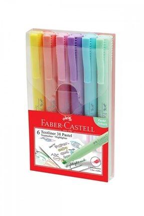 Faber Castell Faber-caste Fosforlu Kalem Cep Tipi 6'lı 1