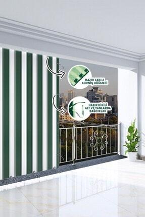 Ataylar Balkon Güneşlik Brandası, 300 X 270 Yeşil Renkli. Balkon Perdesi 1