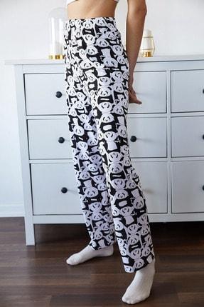 Xena Kadın Beyaz Panda Baskılı Pijama Altı 1KZK8-11162-01 4