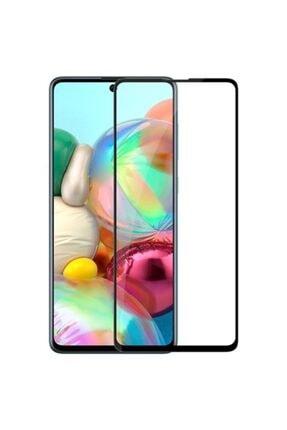Ally Mobile Sm Galaxy A71 3d Full Kaplama Kırılmaz Tempered Cam Ekran Koruyucu Siyah 0