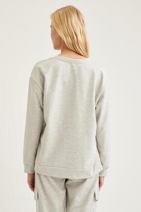 Defacto Kadın Gri Relax Fit Sweatshirt 3