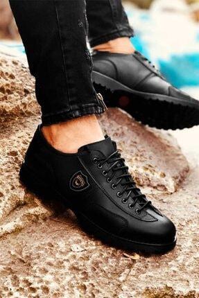 Eser Akış Erkek Siyah Dört Mevsim Rahat Tam Ortopedik Ayakkabı 0