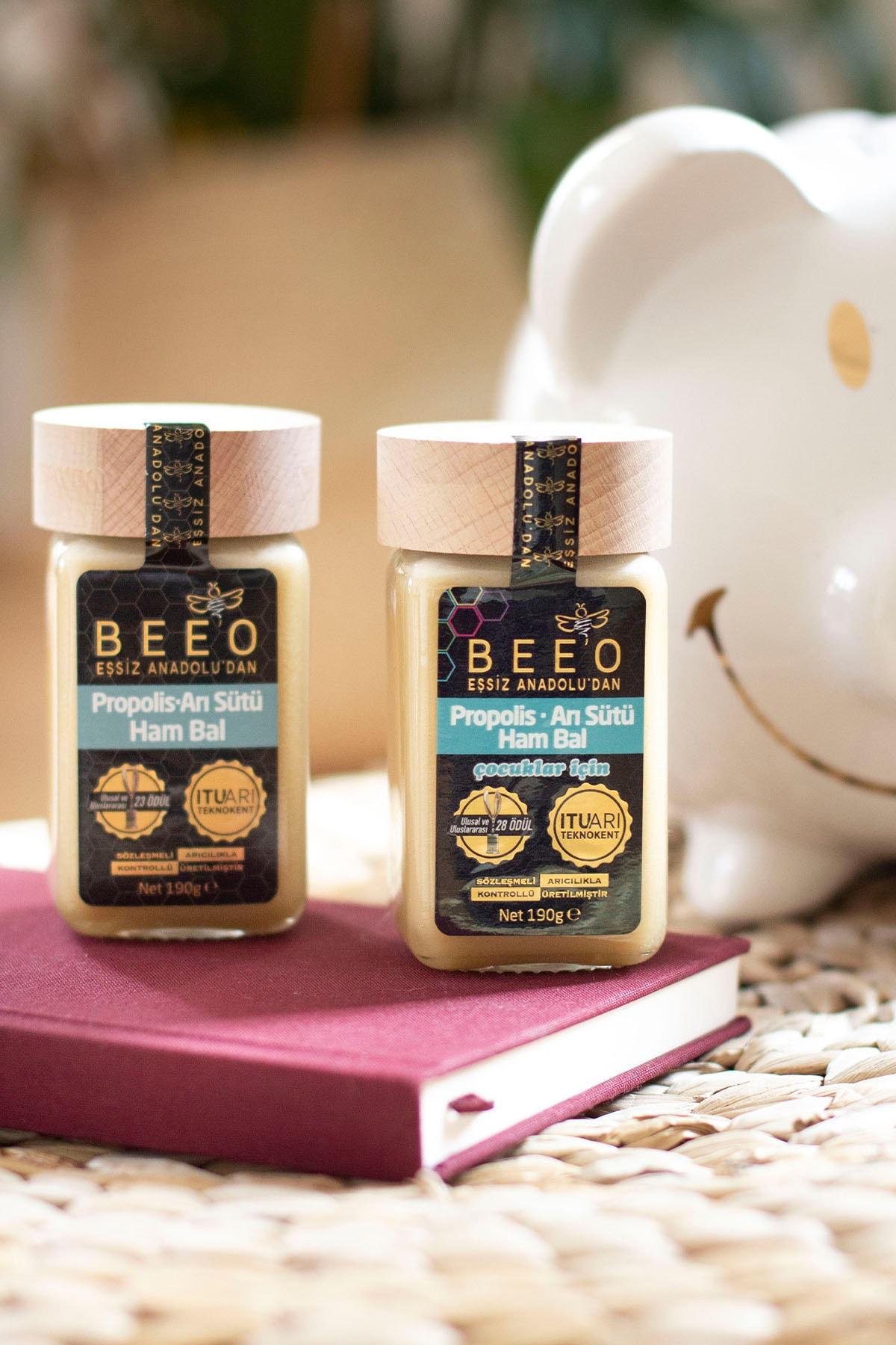 Beeo Çocuklar için Propolis+arı Sütü+ Bal Karışımı 190 gr