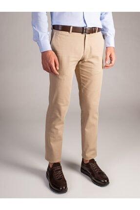 Dufy Erkek Bej Düz Pantolon - Regular Fit 0