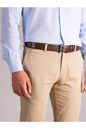 Dufy Erkek Bej Düz Pantolon - Regular Fit 1